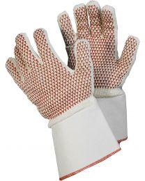 Tegera 484 Extra Long Heat Resistant Gloves 250°C Nitrile Dot Grip Palm
