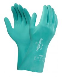 Ansell AlphaTec 58-330 AquaDri Green Nitrile Chemical Resistant Gloves