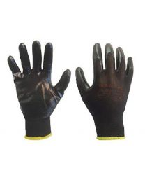Warrior Black Nitrile Coated Work Gloves