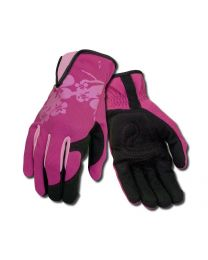 Ansell 97-981 Ladies Pink Leather Palm Gardening Work Gloves