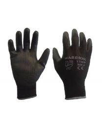 Warrior Black PU Coated Work Gloves
