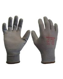 Warrior Grey PU Coated Work Gloves