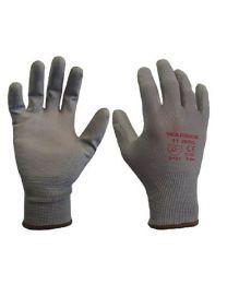 Warrior Grey PU Coated Work Gloves