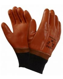 Ansell 23-191 Waterproof Winter Monkey Grip PVC Coated Thermal Work Gloves