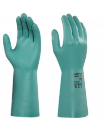 Ansell 37-200 Light Green Nitrile Household Chemical Resistant Gloves
