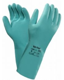 Ansell Solvex 37-675 Green Nitrile Chemical Resistant Gloves