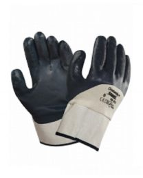 Ansell 48-913 Oceanic 3/4 Blue Nitrile Coated Work Gloves Safety Cuff