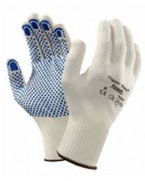 Ansell 76-301 Tiger Paw PVC Dot Grip Palm Work Gloves