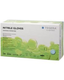 TEGERA 84301 Blue Nitrile Powder Free Disposable Gloves