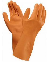 Ansell 87-370 Orange Latex Chemical Resistant Gloves