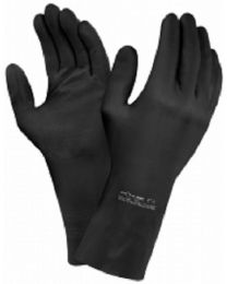 ANSELL Extra 87-950 Thick Black Latex Chemical Resistant Gloves