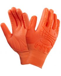 Ansell 97-321 Mad Grip Orange Hi Viz Impact Protection Gloves
