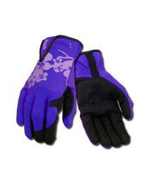 Ansell 97-980 Ladies Purple Leather Palm Gardening Work Gloves