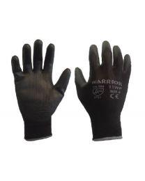 Case 240 Pairs Warrior Black PU Gloves 11 XXL
