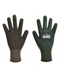 Polyco Matrix D Grip Grey PVC Dot Palm Work Gloves