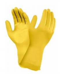 Ansell Marigold G12Y Yellow Latex Chemical Resistant Gloves