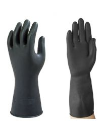 Case 144 Pairs Ansell Marigold G17K Black Latex Gloves 10.5 XXL