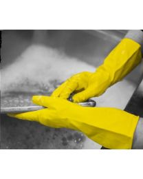 Shield 2 Yellow Latex Household Rubber Gloves