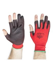Polyco Matrix Fingerless PU Palm Coated Work Gloves