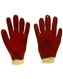 Polyco Red Fully Coated PVC Work Gloves