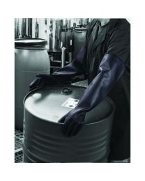 Polyco Chemprotec Heavyweight 66cm Black Latex Gauntlets ME111