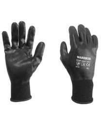 Warrior Fully Coated Black Nitrile Gloves