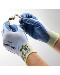 Case 144 Pairs Ansell HyFlex 11-518 Ultralight Duty Cut Resistant Gloves 8 M