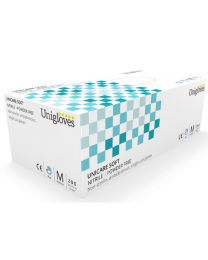 Box 200 Unigloves Unicare Soft Blue Nitrile Powder Free disposable Gloves