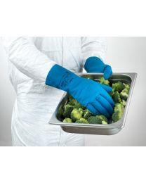 Ansell AlphaTech 87-195 Blue Latex Rubber Gloves