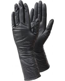 Case 10 Boxes Tegera 849 Black Long Cuff Disposable Gloves 8 M