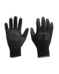 Case 240 Pairs Warrior Black PU Gloves 8 M