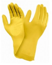 Ansell Marigold AlphaTec 87-086 (G12Y) Yellow Latex Rubber Gloves 0.43mm Thick