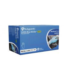 GL895 PH Bodyguards 4 Blue Nitrile Powder Free Disposable Gloves