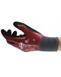 Ansell Edge 48-919 Double Nitrile Coated Work Gloves