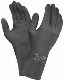 Ansell AlphaTec 87-950 Black Latex Rubber Gloves 0.75mm Thick