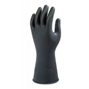 Ansell AlphaTec 87-118 (Marigold G17K) Black Latex Chemical Resistant Gloves
