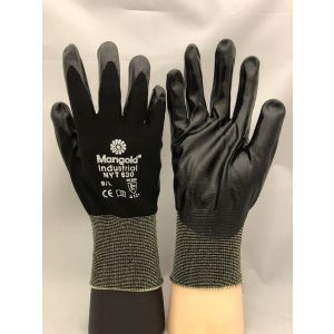 Marigold NYT630 Black Nitrile Coated Work Gloves